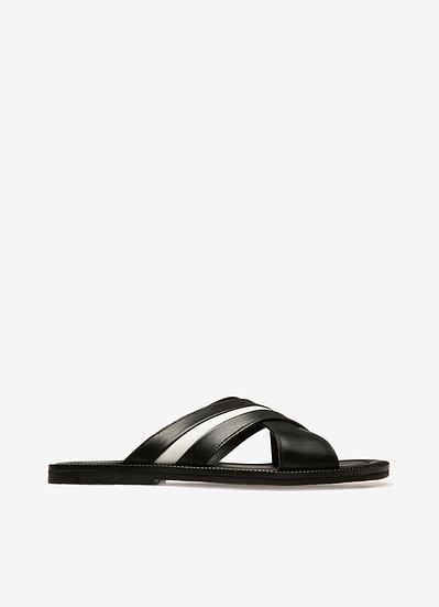 BALLY UK Jaabir Men Leather Sandals