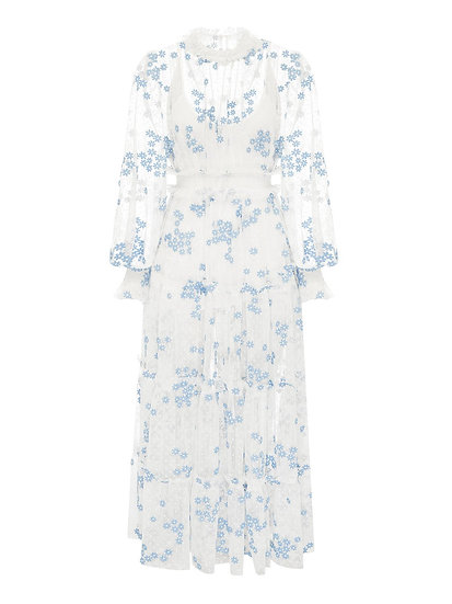 ALICE McCall Blue and White Dress