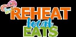 Reheat Local Eats Logo with Transparent