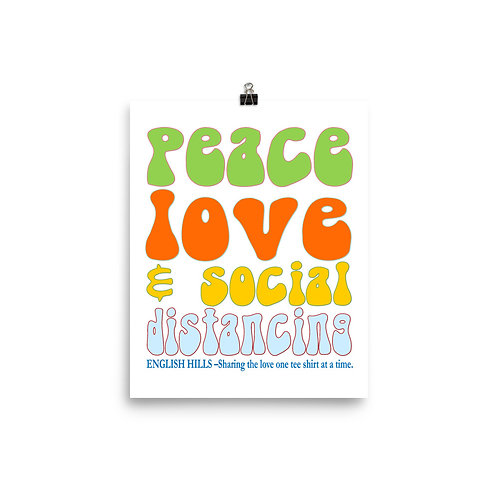 Poster - Peace, Love, and Social Distancing