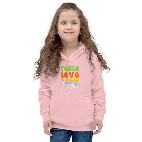 Kids Hoodie - Peace, Love, and Social Distancing
