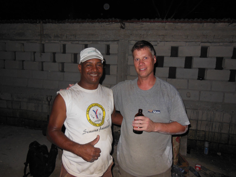 Todd and Felix building at Children of J