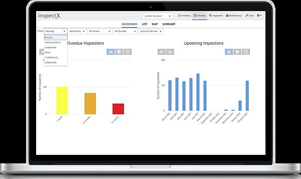 inspectX schedule dashboard