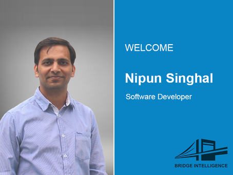 Nipun Singhal joins Bridge Intelligence as a Software Developer