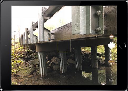 inspectX app - camera