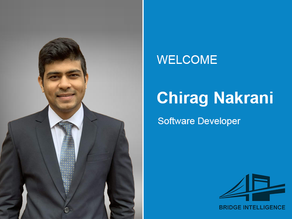 Chirag Nakrani joins Bridge Intelligence as a Software Developer