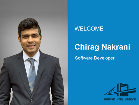 Chirag Nakrani joins Bridge Intelligence as a Software Developer