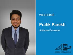 Pratik Parekh joins Bridge Intelligence as a Software Developer