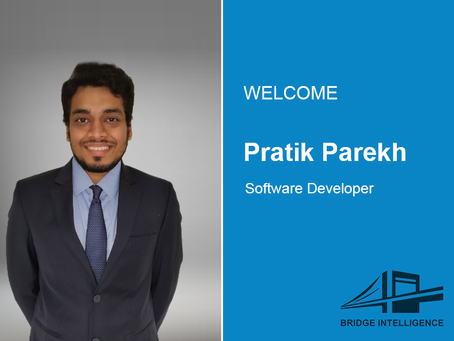 Pratik Parekh joins Bridge Intelligence as a Software Developer