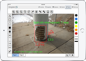 inspectX app - sketch functionality