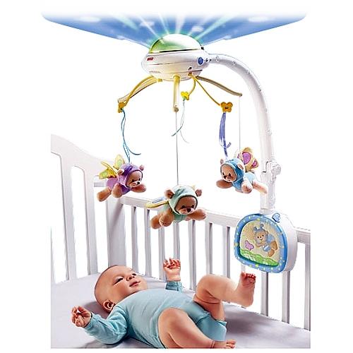 móvil sonido luces bebé creare