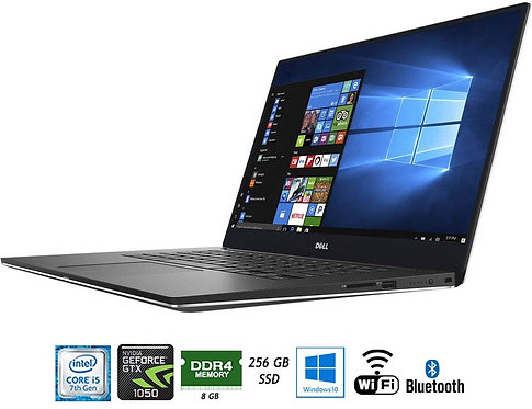 """מחשב נייד Dell XPS 9560-5000SLV 15.6"""" 4k Touce Core i5 7300HQ 8GB DDR4 256GB SSD"""