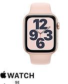 שעון חכם אפל Apple Watch SE GPS 44mm בצבע זהב עם רצועת ספורט ורוד