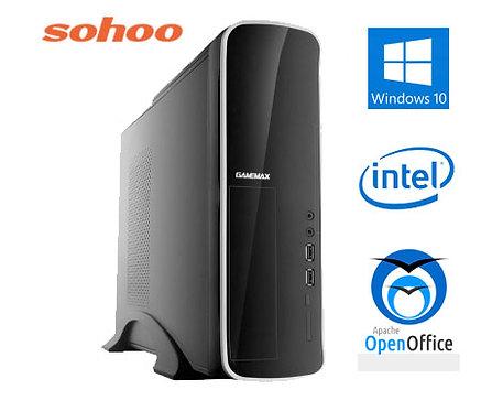 מחשב נייח מארז מוקטן הכולל INTEL Core i3 10100 8GB DDR4 256GB SSD