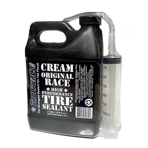 1 Liter  Original Cream Race Tire Sealant (33.8 us fl oz)