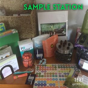 My sample station!!
