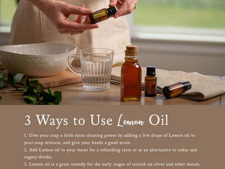 3 Ways to Use Lemon EO 🍋