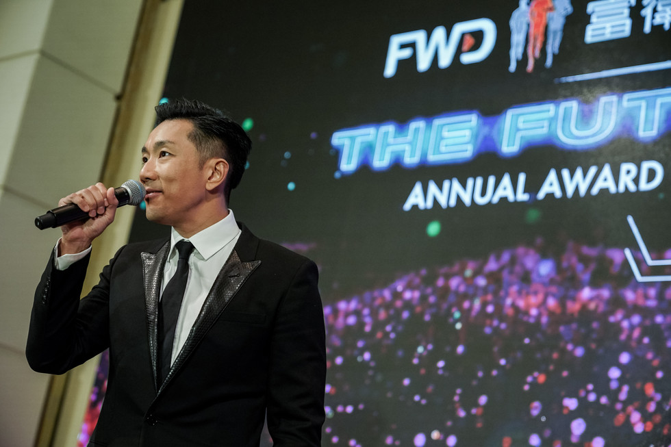 Hong Kong Singer performing on stage for FWD x CCBA