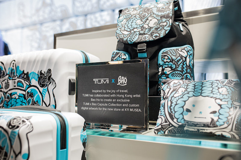 TUMI BAO product collection display in K11 Musea