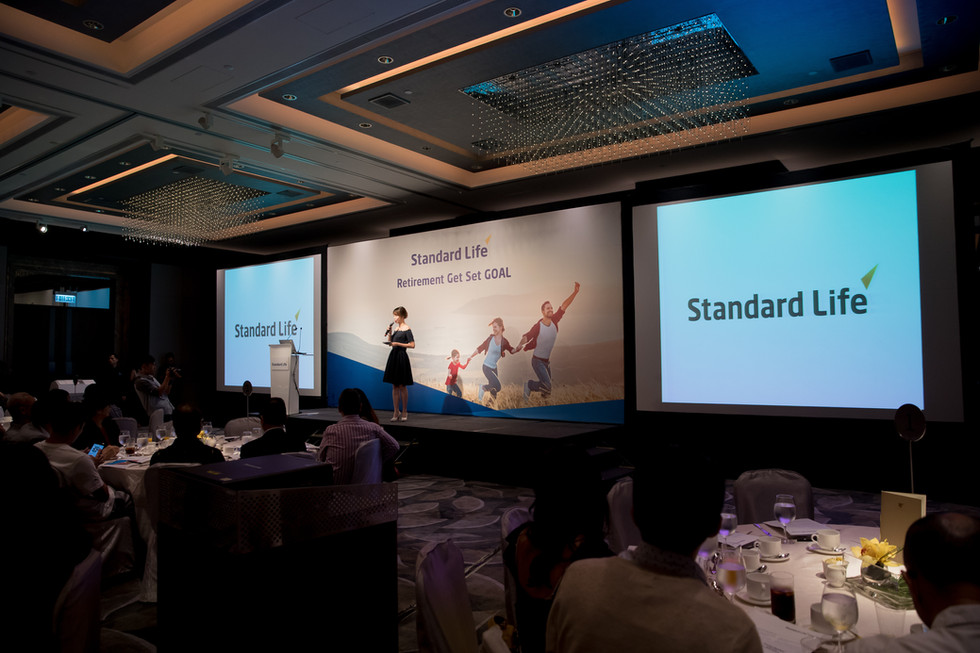 Standard Life Event stage with backdrop