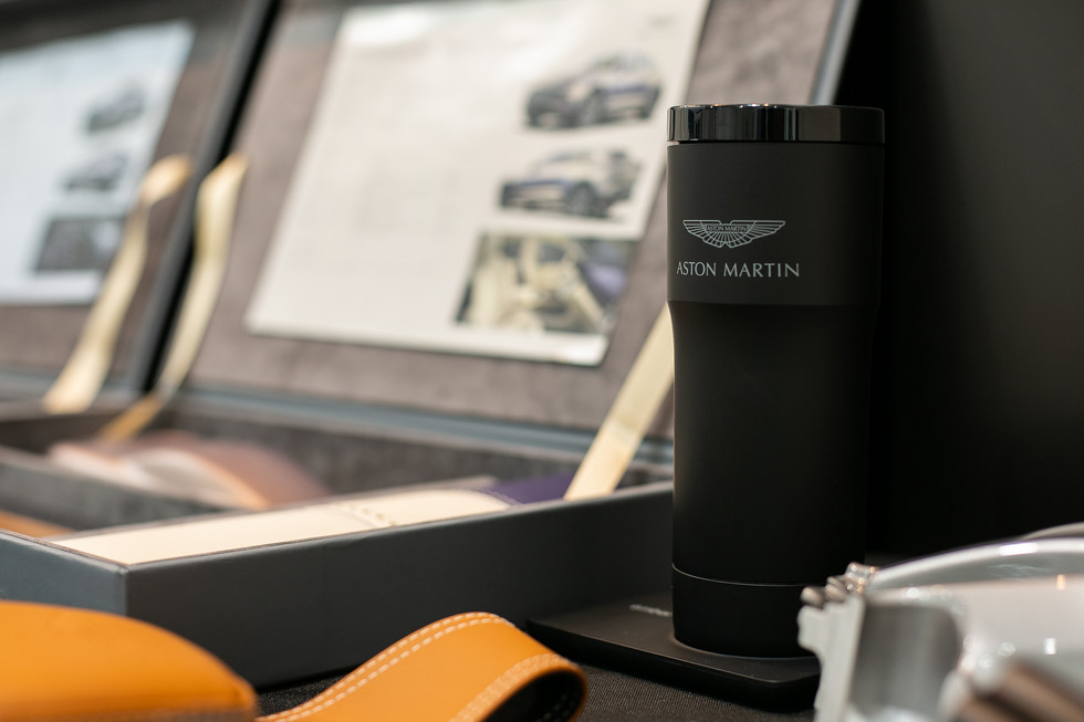Aston Martin black mesh cup
