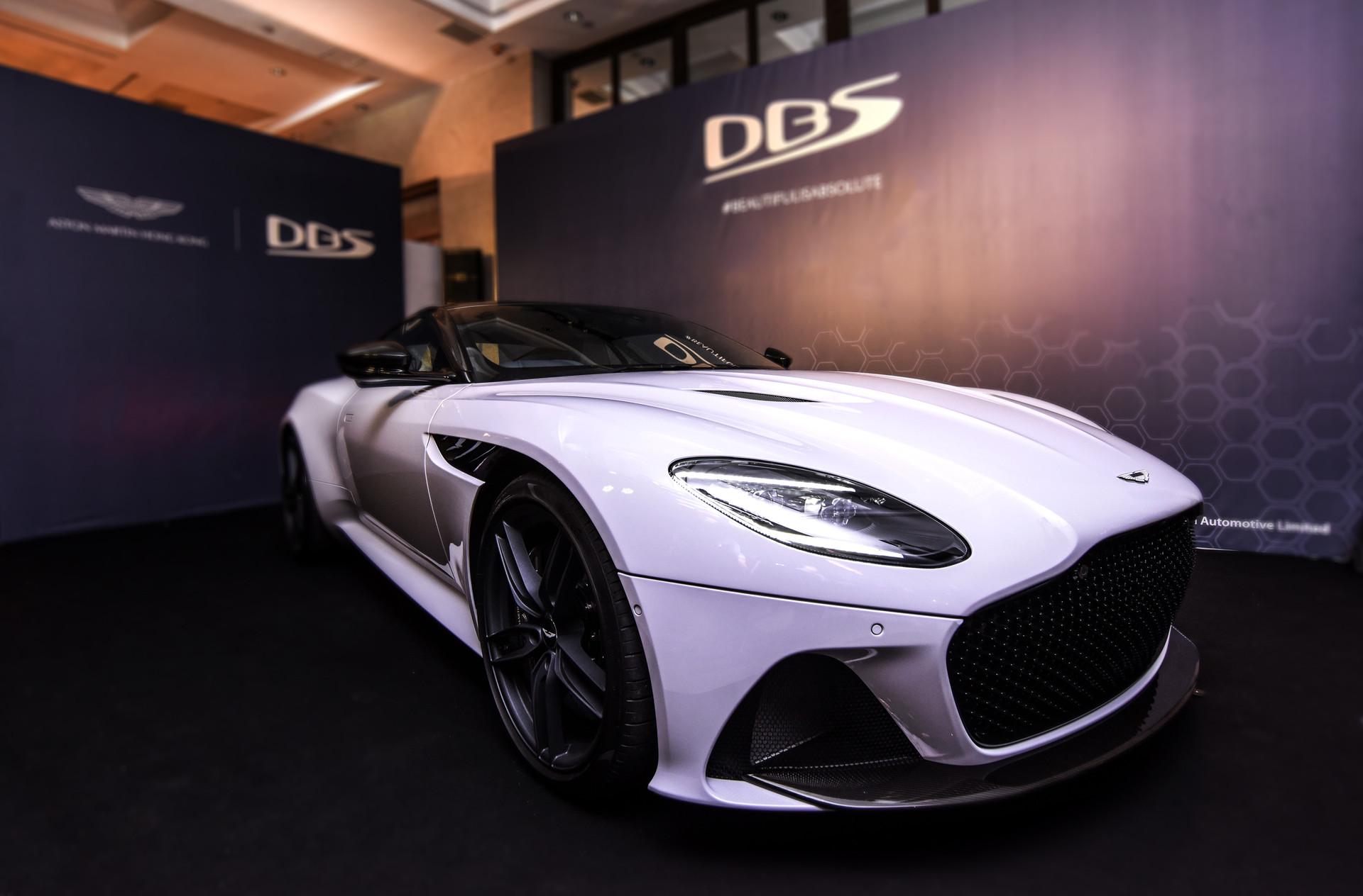 White Aston Martin DBS Superleggera Event in Hong Kong