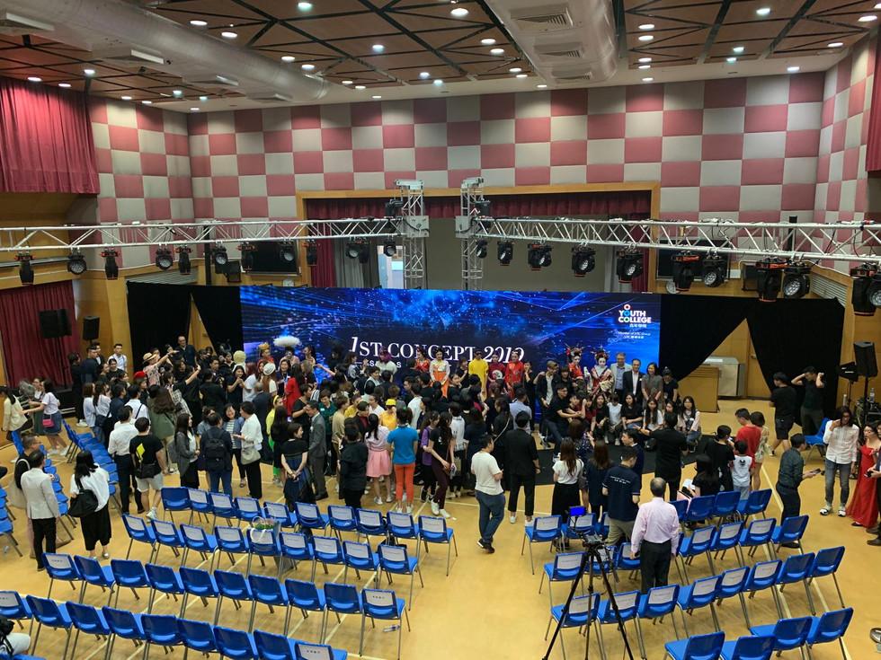wide shot of fashion walk 1st concept event