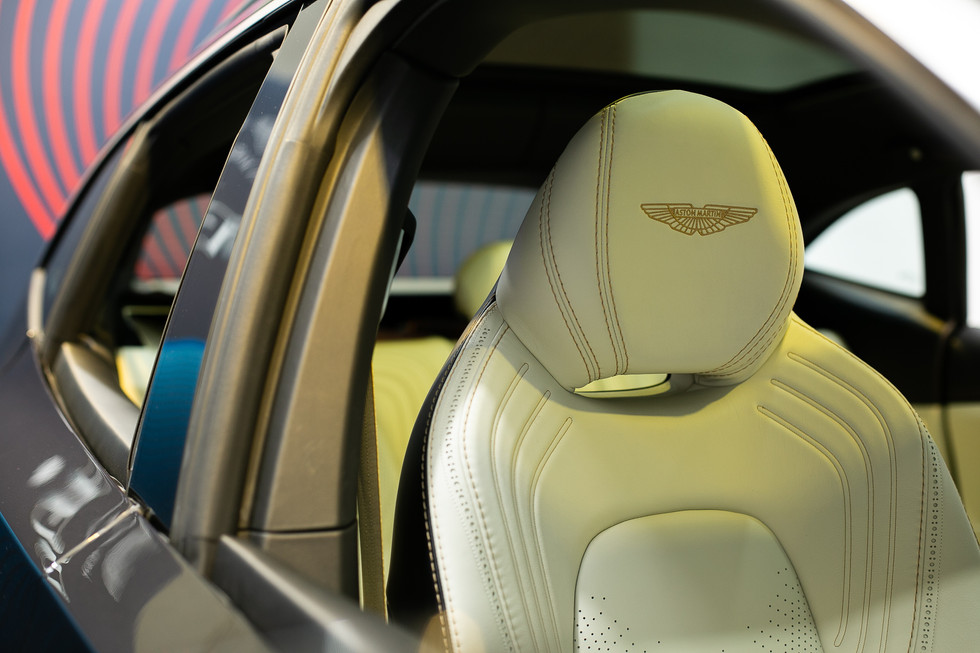 Aston Martin DBX leather seat in Hong Kong event
