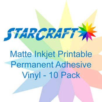 StarCraft-InkJet Printable Matte Permanent Adhesive 10 Pack