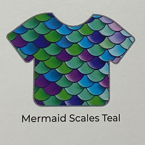 Pattern-Mermaid Scales Teal
