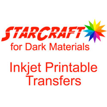 StarCraft Inkjet Printable Heat Transfers for Dark Materials -5 Pack