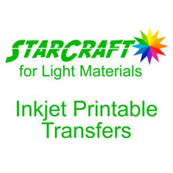 StarCraft Inkjet Printable Heat Transfers for Light Materials -10 Pack