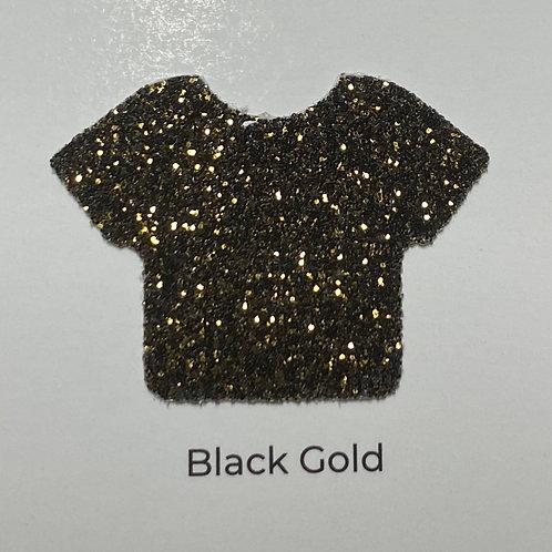 Glitter -Black Gold