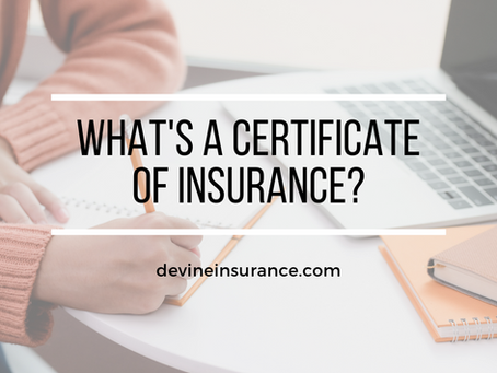 What's a Certificate of Insurance?