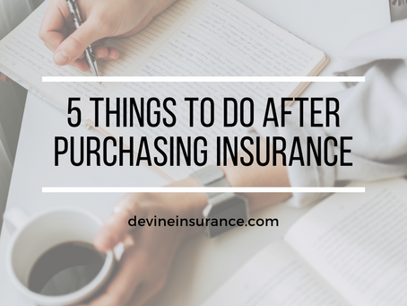 5 Things To Do After Purchasing Insurance