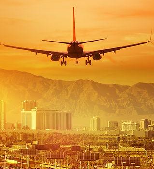 Vacation Airplane Trip to Las Vegas. Lan
