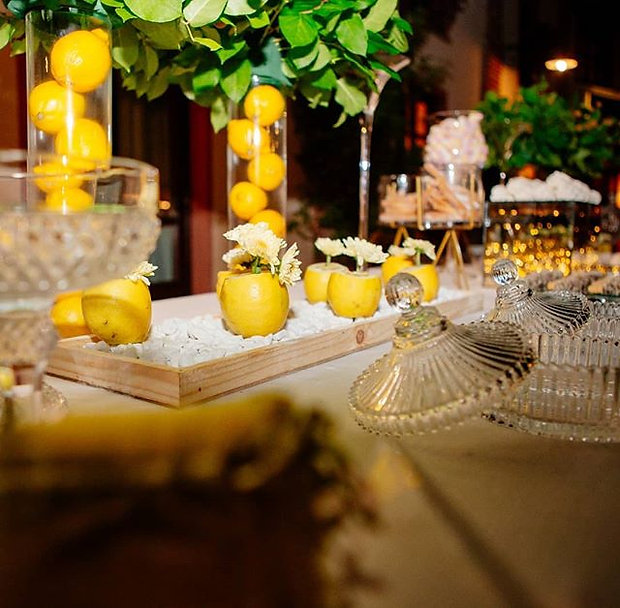 sweet table tema limoni