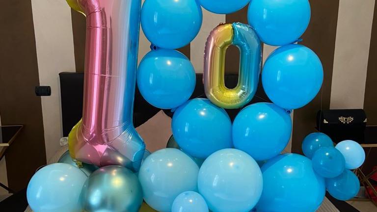 composizione di palloncini