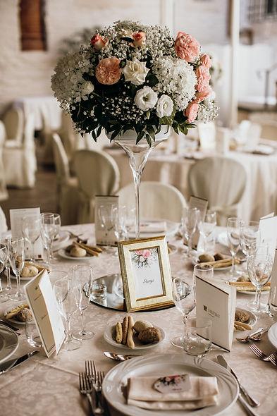 coppa martini centrotavola fiori