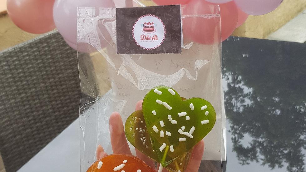 pacchetto dona un sorriso (a scelta con macarons, lecca lecca o meringhe)