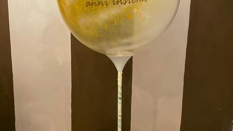 centrotavola con bubble personalizzata