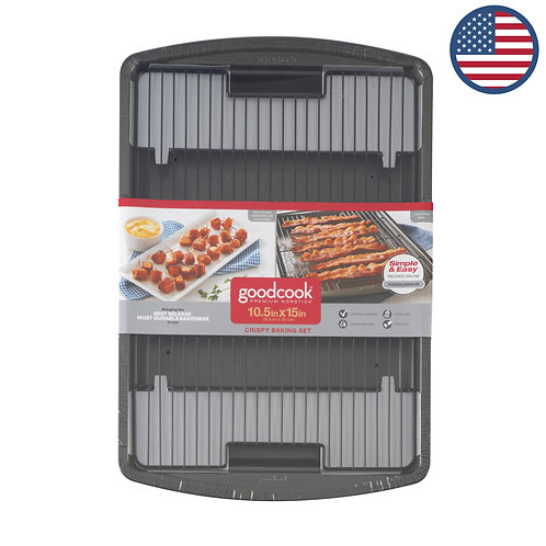 Good Cook -美國品牌長方形烤焗盤連烤架