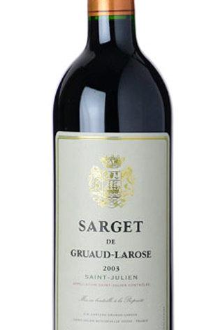 2003 Chateau Gruaud-Larose 'Sarget de Gruaud-Larose', SAINT-JULIEN