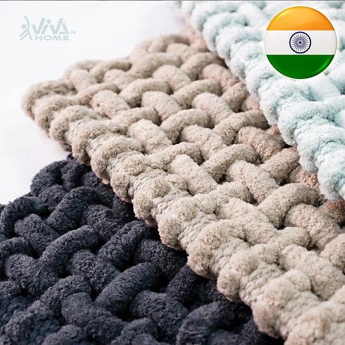 印度手工浴室吸水防滑地毯