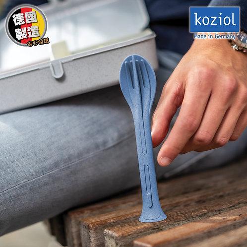 德國製造創意家品系列 可企立三合一環保輕巧餐具輕便套裝(匙羹+刀+叉)