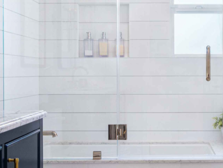 Frameless shower doors are always in style for a wonderful look