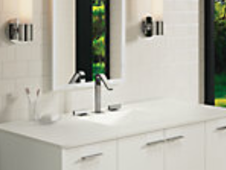 ADD A WONDERFUL BACK SPLASH WALL OF TILES TO ENHANCE THE BEAUTY OF THE BATHROOM CABINET