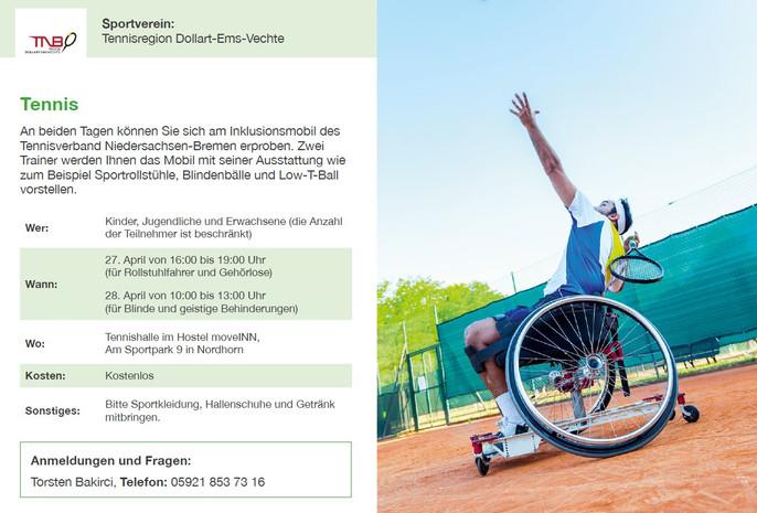 Inklusion Tennisregion Ems-Vechte-DollartBitte beachten!