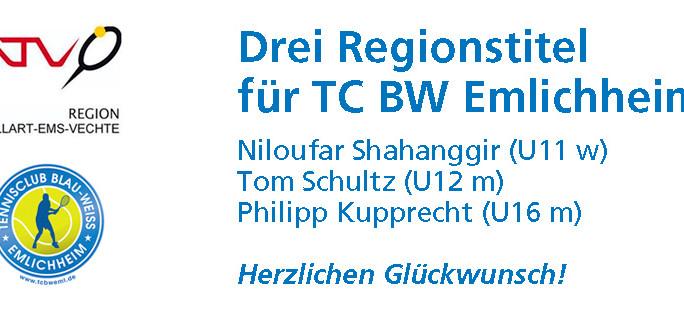 Drei Regionmeister aus Emlichheim