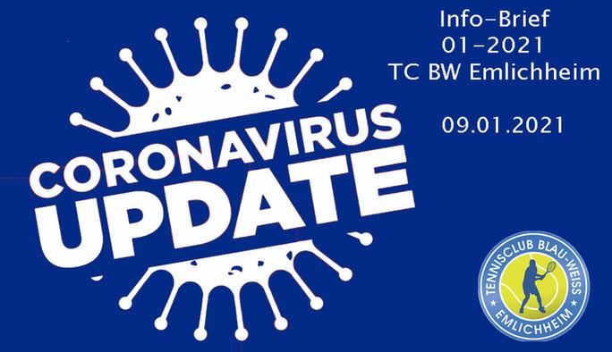 Infobrief 01-2021 für die Mitglieder des TC BW Emlichheim e.V. und Nutzer der Tennishalle